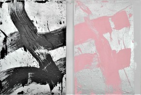 #A & #T, each 100x70 - acrylics and spraypaint on plywood